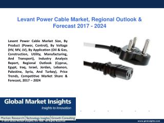 PPT for Levant Power Cable Market Share, Industry Analysis, by 2017 - 2024