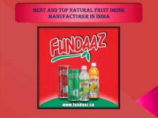 Best and Top Natural Fruit Drink Manufacturer in India