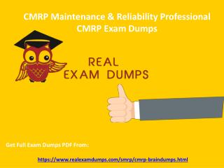 Download CMRP Braindumps - SMRP CMRP Real Exam Questions RealExamDumps.com