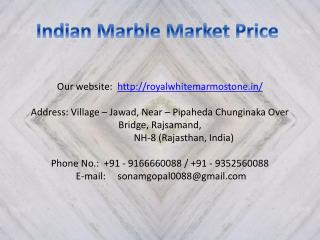 Indian Marble Market Price