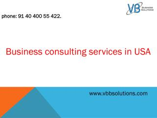 Business consulting services in USA