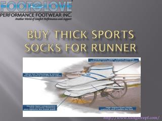 Buy thick sports socks for runner