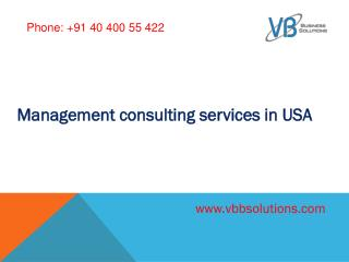 Management consulting services in USA