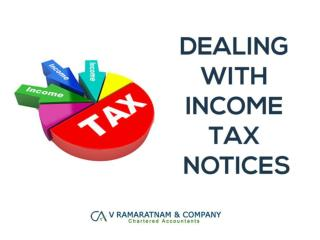 Dealing With Income Tax Notices