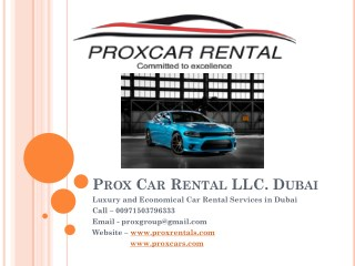 Luxury Cars For Rent in Dubai