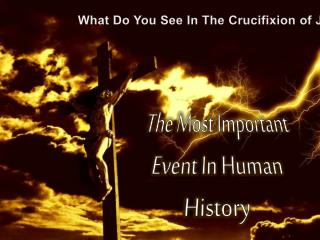 What Do You See In The Crucifixion of Jesus?