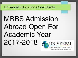 MBBS Admission Abroad Open For 2017-2018