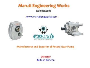 Best Rotary Gear Pump Manufacturer in India - Maruti Pump