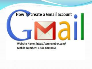 How To create a Gmail account Following Step by step 1 844 830 0666