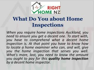 What Do You about Home Inspections