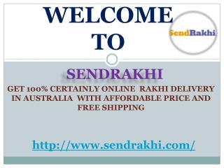 Send rakhi to Australia with 100% express delivery and free shipping.