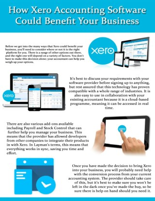 How Xero Accounting Software Could Benefit Your Business