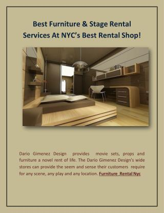 Best Furniture & Prop Services At New York's Best Rental Shop!