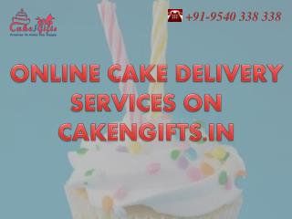 Online cake with different flavor delivery services by CakenGifts.in