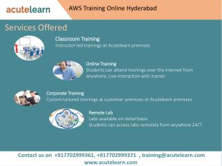 AWS Training Online Hyderabad