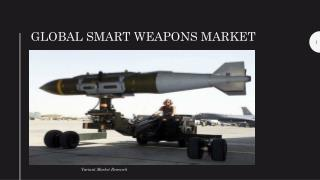 Global Smart Weapons Market is estimated to reach $19 billion by 2024