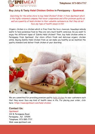 Buy Juicy & Tasty Halal Chicken Online in Parsippany – Spotmeat
