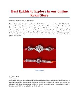 Online Rakhi Store,Send rakhi to Canada.Best collection of Rakhis On Rakhi.in