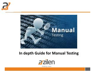 In depth Guide for Manual Testing