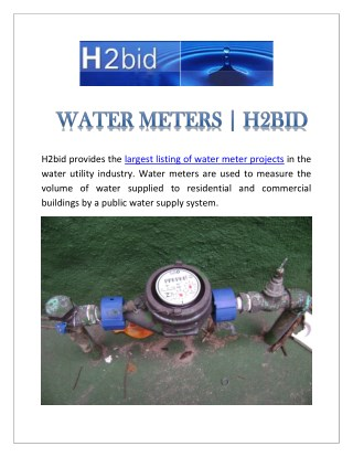 Water Meters | H2bid