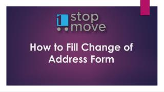 How to Fill Change of Address Form