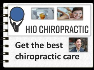 Get the basic chiropractic adjustments