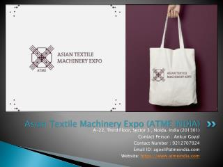 Textile Machinery Exhibition | Textile Exhibition In India | ATME