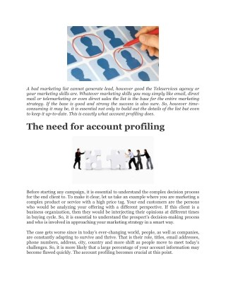 Account Profiling – A key for building valuable marketing list