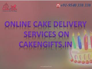Online cake delivery services with different flavor by CakenGifts.in