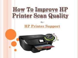 How to Improve HP Scan Quality