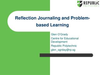 Reflection Journaling and Problem-based Learning