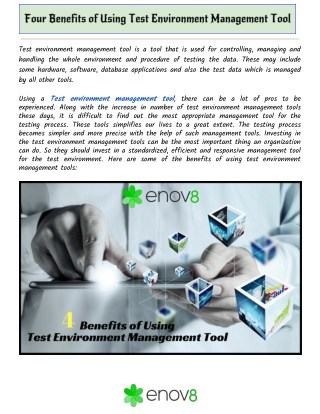 Four Benefits of Using Test Environment Management Tool