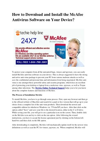 How to Download and Install the McAfee Antivirus Software on Your Device?
