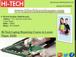 Laptop Repairing Course in Laxmi Nagar, Delhi
