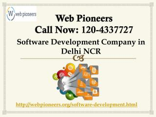 Software Development Company in Delhi Call |120-4337727