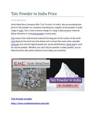 Talc powder in india price