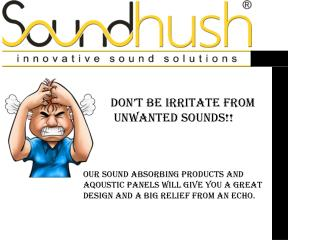 Sound Hush | sound absorbing panels