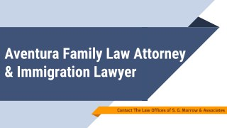 Aventura Family Law Attorney & Immigration Lawyer