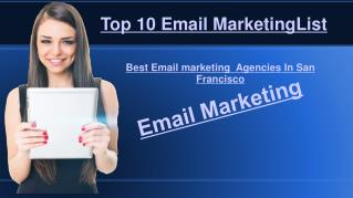 Email Marketing Agencies & Companies in San Francisco