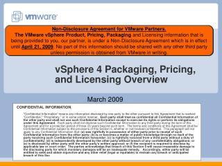 VSphere 4 Packaging, Pricing, and Licensing Overview