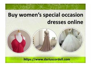 Choose the latest design of the gowns from Darius Cordell