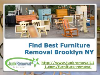 Find Best Furniture Removal Brooklyn NY