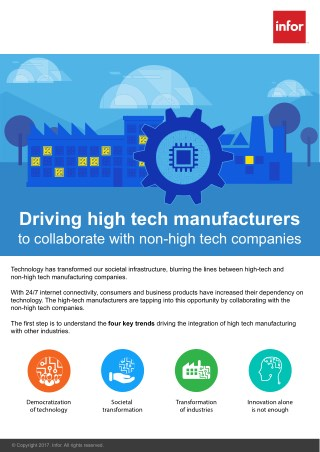 Driving High Tech Manufacturers to Collaborate with Non-High Tech Companies