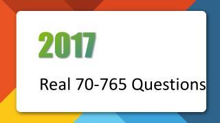 70-765 Provisioning SQL Databases Killtest Practice Exam