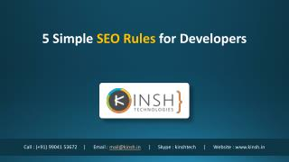 5 Simple SEO Rules for Developers