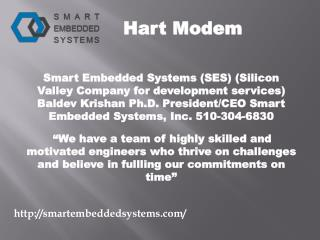 Embedded system design and services- smartembeddedsystems.com- Industrial automation devices- Modem for HART- Hart hardw