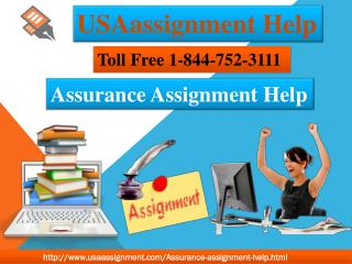 Assurance Assignment Toll Tree:- 1-844-752-3111