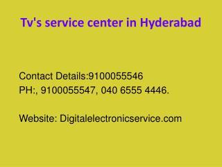 Tv's service center in hyderabad