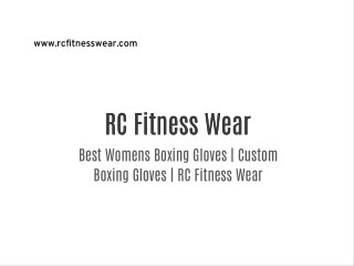 Best Womens Boxing Gloves | Custom Boxing Gloves | RC Fitness Wear