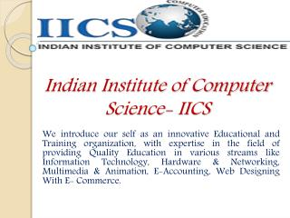 Get The Best SEO Web Designing & Computer Courses In Delhi - IICS India